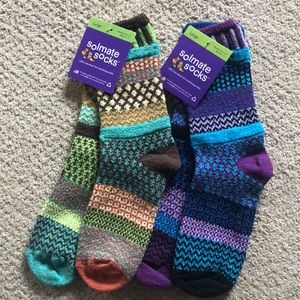 2 pairs Solemate Socks.  New with tags L